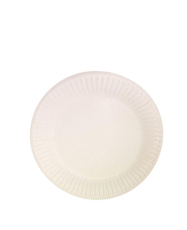 Papirnati tanjir d = 230 mm Snack Plate, beli biolaminiran (100 kom/pak)