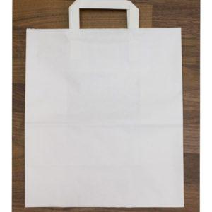Papirna kesa 240x140x280 mm bela, sa plitkim ručkama
