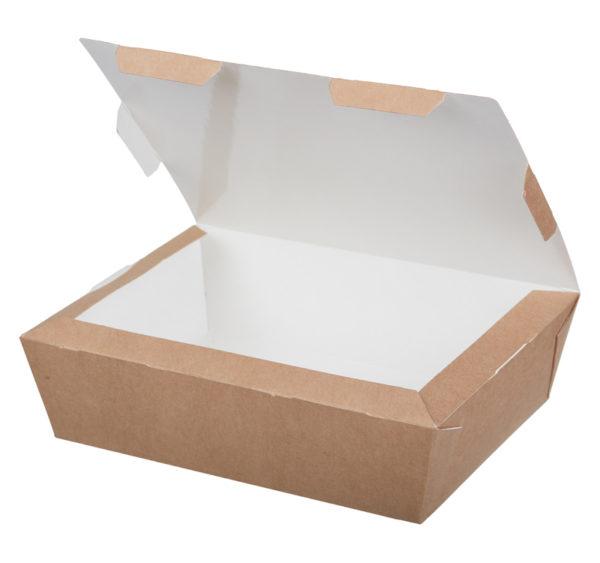 Kartonska kutija za ručak Lunch2Go 1000 ml 190x150x50 mm kraft (80 kom/pak)