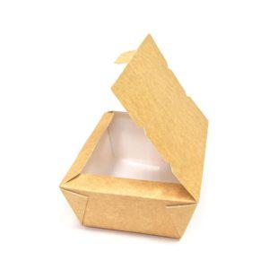 Kutija papirnata (lunch box) Lunch2Go 1000 ml 190x150x50 mm, kraft (80 kom/pak)