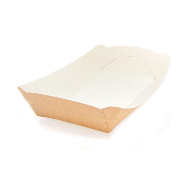 Pladenj papirnat za brzu hranu Handy Tray 164x84x40mm kraft