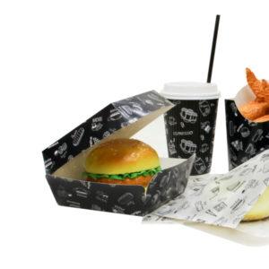Kutija za hamburger Complement Black 120х120х70mm