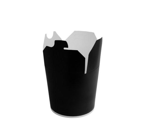 Papirnata posoda za WOK 450 ml črna (50 kom/pak)