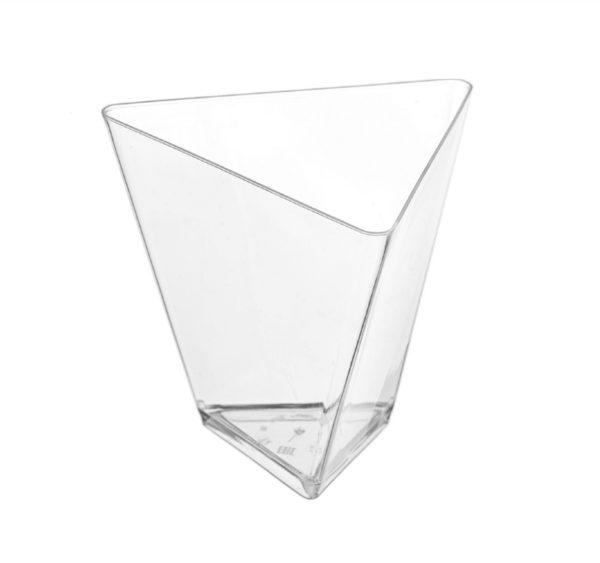 Posuda Triangolo za catering PS 70 ml providna