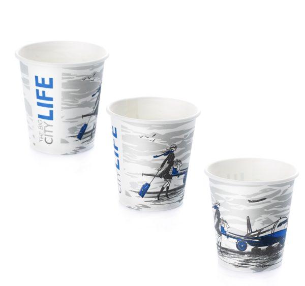 Čaša papirnata Big City Life 150/170 ml d=70 mm