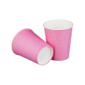Čaša papirnata 1 sl, 250 / 273 ml, d = 80 mm, roza