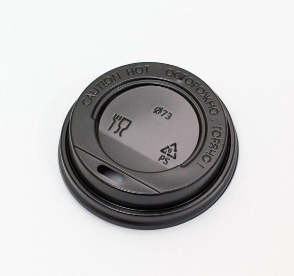 Poklopac sa bočnim otvorom PS d=73 mm crna (100 kom/pak)