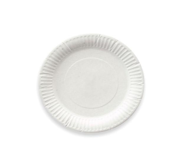 Papirnati tanjir d=170 mm beli (100 kom/pak)