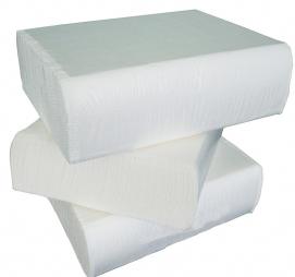Papirni ubrusi 2-sl Z presavijeni 200 L/pak Tomos bijeli