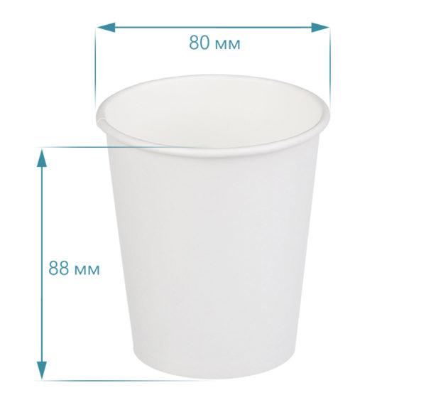 Čaša papirnata jednoslojna 250 (50 kom/pak)