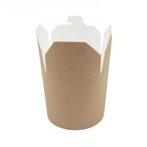 Kartonska kutija za WOK 450 ml 103х88х92 mm kraft (50 kom/pak)