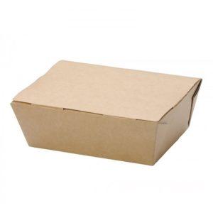 Kutija za ručak preklopna papirnata ECO LUNCH BOX 600ml 150x115x50mm, kraft (500 kom/pak)