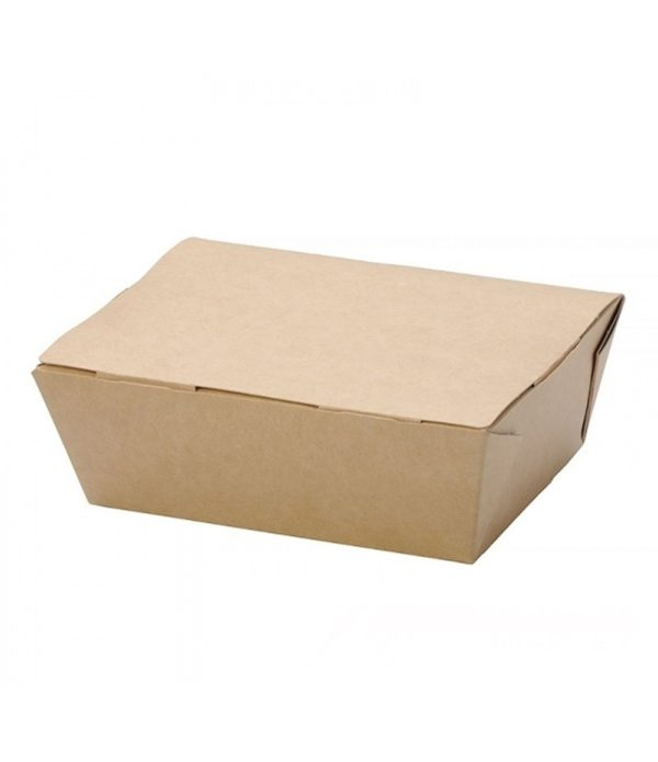 Kutija za ručak preklopna papirnata ECO LUNCH BOX 600ml 150x115x50mm, kraft (500 kom/pak)