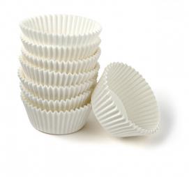 Minjoni papirne korpice za pecivo okrugli d=55 mm h=35 mm bijeli (1000 kom/pak)