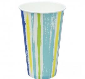 Papirna čaša 1-sl 500 ml d=90 mm Strips za hladna pića