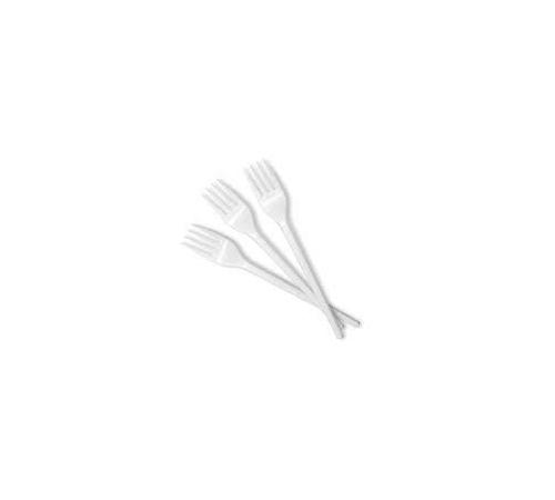 Viljuška plastična 16,5 cm bijela (100 kom/pak)