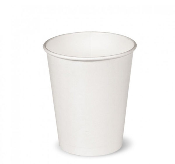 Papirna čaša 250 ml d=80 mm bijela (50 kom/pak)