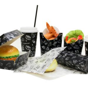 Kutija za hamburger Complement Black 120х120х70 mm (500 kom/pak)