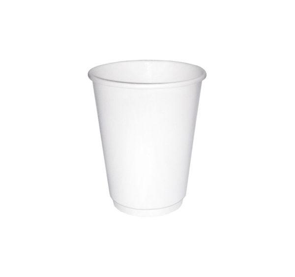 Papirna čaša 2-sl 250 ml d=80 mm bijela (24 kom/pak)