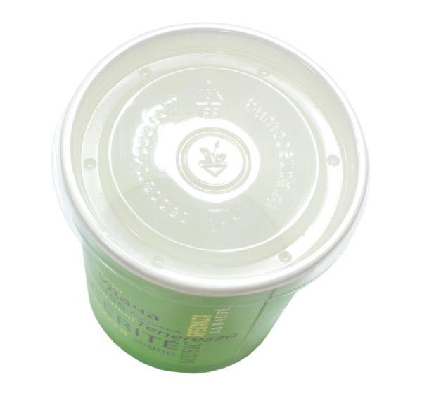 Plastičen pokrov za papirnato posodico d=98 mm (40 kom/pak)