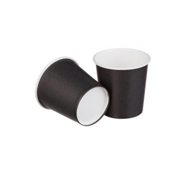 Papirna čaša 1-sl 100 ml d=62 mm crna (50 kom/pak)