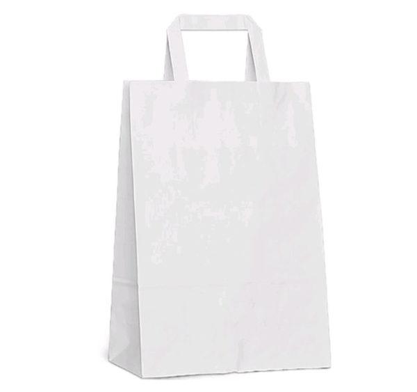 Papirna kesa sa plitkim ručkama 350х150х450 mm bijela (200 kom/pak)