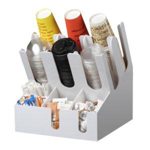 Barski organajzer sa 3 odeljka za čaše i 6 odeljaka za dodaci bieli (7002A-W)