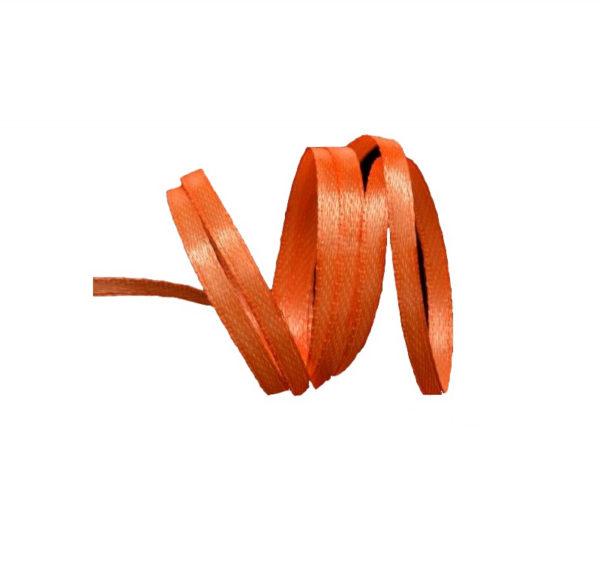 Satenska vrpca 3mm x 100 m narandžasta