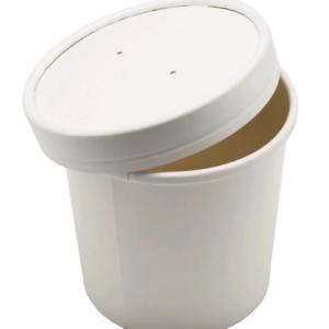 Kartonska posuda za supu Tambien ECO 240 ml d-90mm, h-60mm, bijela (25 kom/pak)