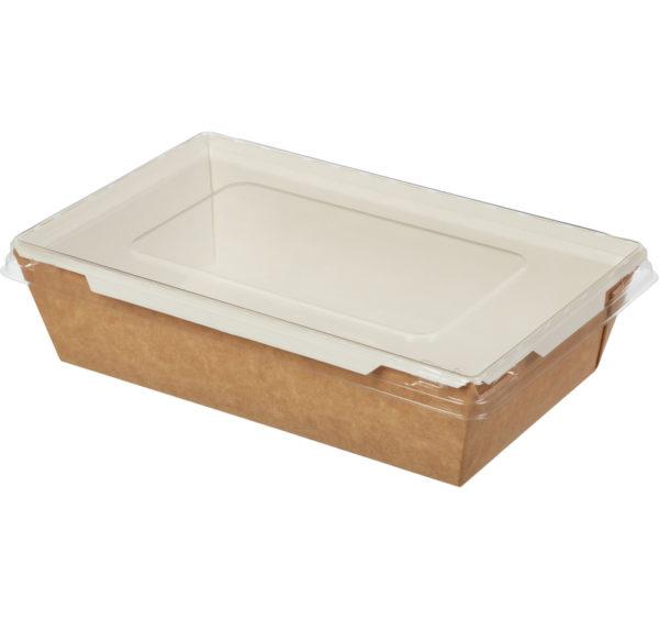 Kartonska kutija sa poklopcem Crystal Box 800 ml 207x127x55 mm kraft (200 kom/pak)