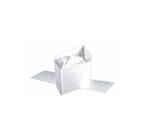 Zaštitna kapa vojnicka pilotka papirnata bijela 100 kom/pak