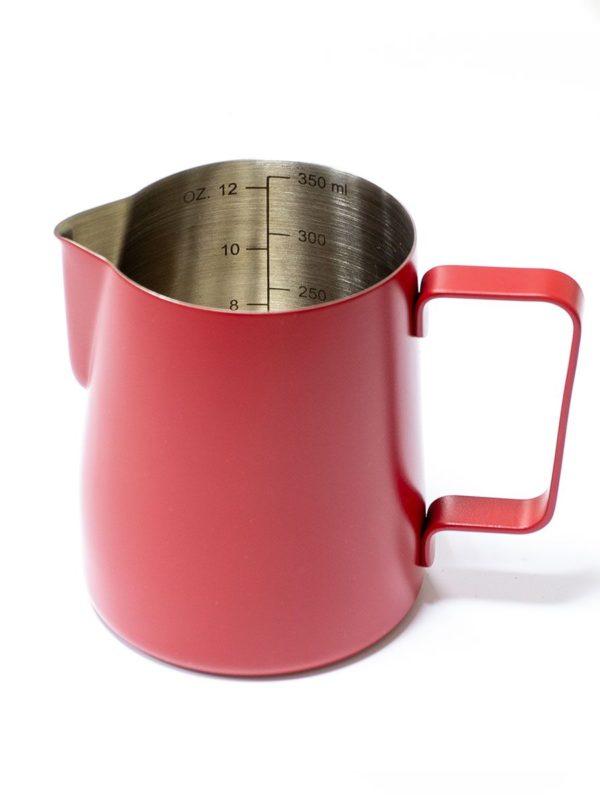 Vrč za mlijeko od nehrđajućeg čelika 350 ml crveni