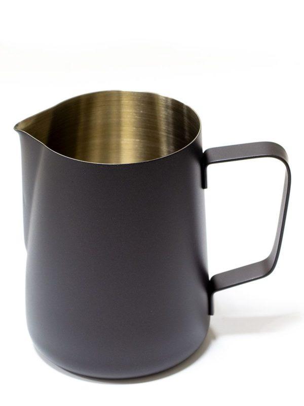 Vrč za mlijeko od nehrđajućeg čelika 350 ml crni