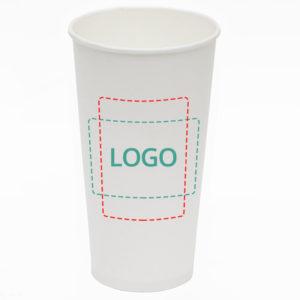 Papirna čaša 1-sl 500 ml d=90 mm bijela (45 kom/pak)