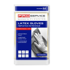 Gumijaste rukavice, prevlečene z bombažem M