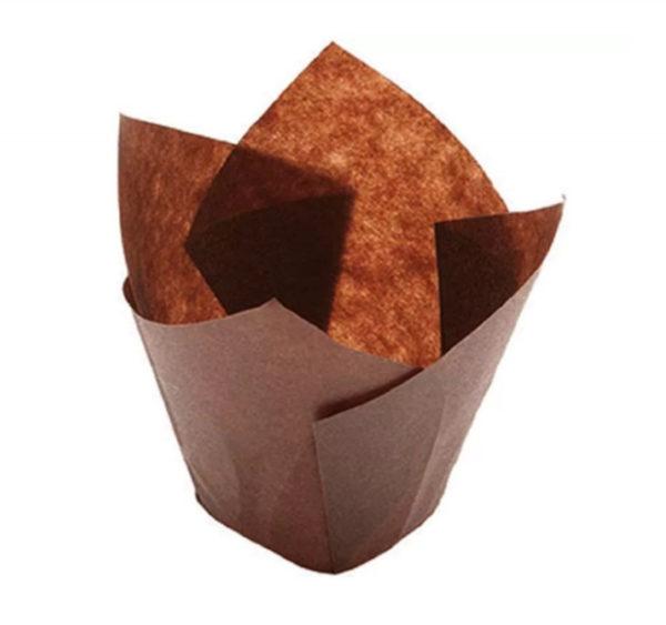 Minjoni papirne korpice za pecivo okrugli TULIP 150/50, 200 kos/pak, smeđa