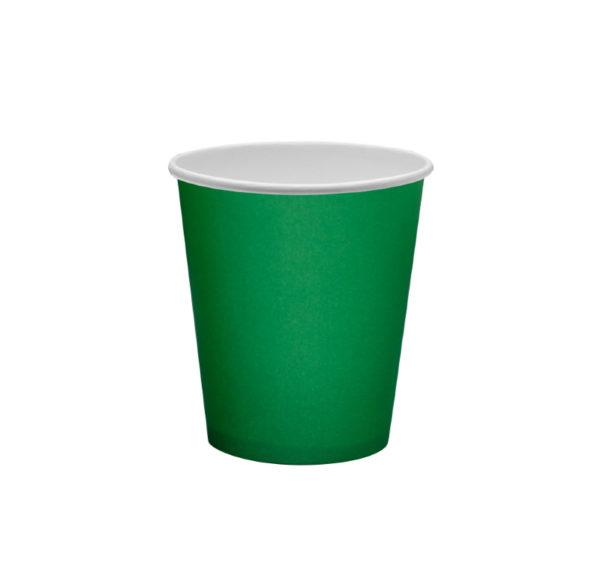 Papirna čaša 1-sl 250 ml d=80 mm zelena (50 kom/pak)